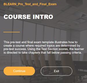 Voorbeeld responsive module met pre-test – Lectora Online